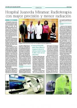 Radioterapia Hospital Juaneda Miramar: mayor precisión