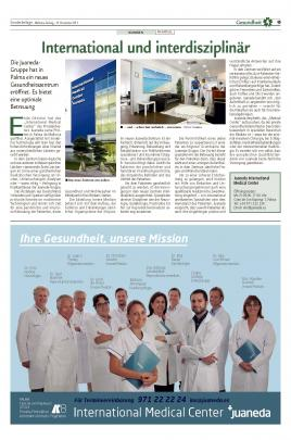 International Medical Center Juaneda: Internacional e interdisciplinar