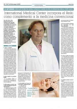 Entrevista Dr. Gert Remmerie; el Reiki
