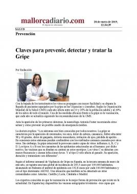 La Dra. Antònia Fuster nos da las claves para prevenir, detectar y tratar la Gripe